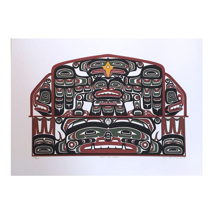 アート シルクスクリーン 画 カナダ 先住民 ネイティブ インディアン 限定エディション 159/170 [ CHIEF'S SEAT ]
