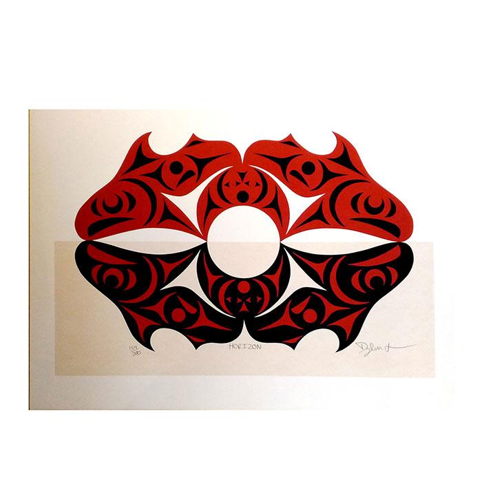 アート シルクスクリーン 画 カナダ 先住民 ネイティブ インディアン 限定エディション 159/200 [ HORIZON ]