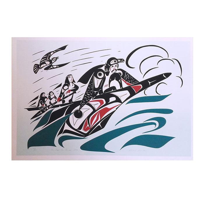 アート EAGLE シルクスクリーン 画 カナダ カナダ 先住民 ネイティブ インディアン 限定エディション 168 [/200 [ THE EAGLE WAR CANOE ], プロラインGolf:5865fa94 --- sunward.msk.ru