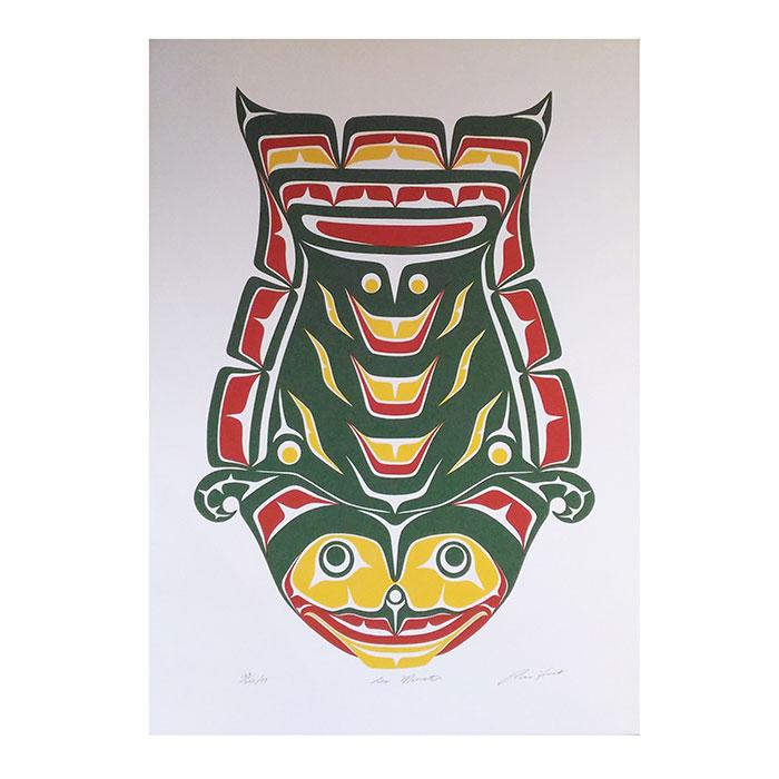 アート シルクスクリーン 画 カナダ 先住民 ネイティブ インディアン 限定エディション 169/200 [ SEA MONSTER ]