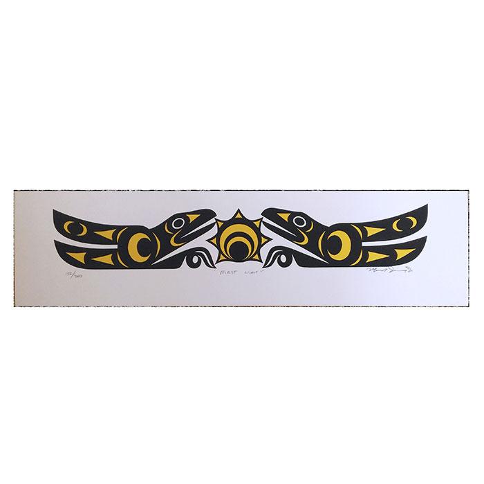 アート シルクスクリーン 画 カナダ 先住民 ネイティブ インディアン 限定エディション 132/200 [ FIRST LIGHT ]