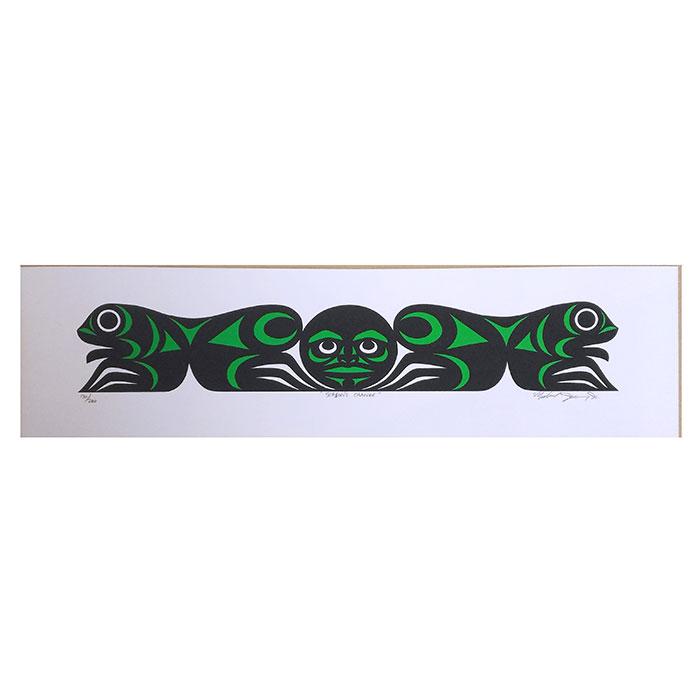 アート シルクスクリーン 画 カナダ 先住民 ネイティブ インディアン 限定エディション 130/200 [ SEASON'S CHANGE ]