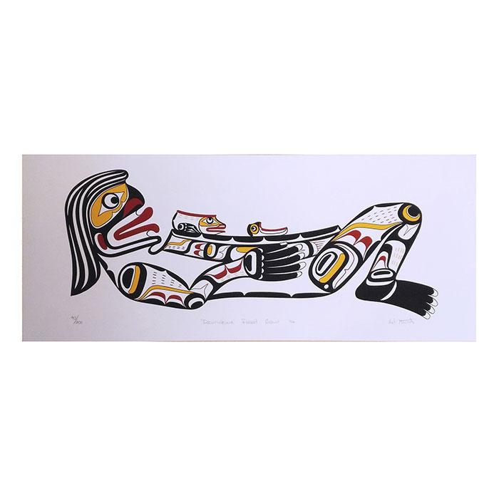 アート シルクスクリーン 画 カナダ 先住民 ネイティブ インディアン 限定エディション 93/200 [ DZUNUKWA FEAST BOWL ]