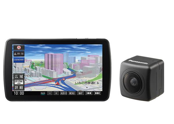 パナソニックCN-F1DVD+CY-RC90KDストラーダ9V型DYNABIGディスプレイ搭載SDナビ+バックカメラセット