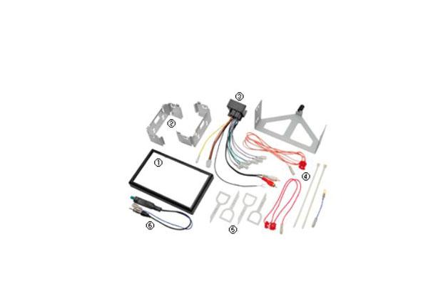 【キャッシュレス決済5%還元!対象店】kanatechsカナテクスGE-VW206Gフォルクスワーゲンポロ(H17/9~H21/10)/クロスポロ(H18/9~H21/10)専用カーAVトレードインキット