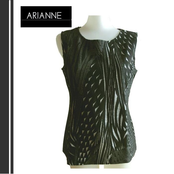【送料無料】【ARIANNE】アリアンヌ 新作 ノースリトップス Mサイズ ブラック #5601N 02P18Jun16