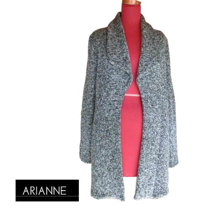 【送料無料】【ARIANNE】アリアンヌ ジャケット Mサイズ ブラック×グレー #9276