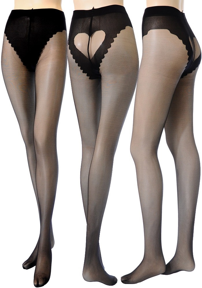 7679aed9043 Lingerie house carlina  ☆Stockings pantyhose heart back design ...