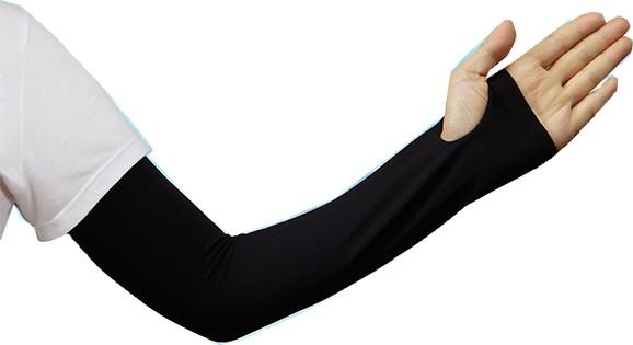 UPF50+ 価格 UVカット率99%以上 男女兼用 スーッと爽快アームカバー キシリトール配合 日焼け対策 ひんやり uv クール ロング 贈物 ブラック 接触冷感 涼しい
