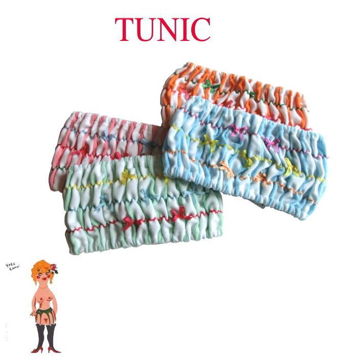 チュニック定番ヘアバンドに縞々柄ブラックが入荷しました♪ メール便送料無料 TUNIC チュニック ヘアバンド ヘアーバンド しましまのリボンバンド 日本製 17166