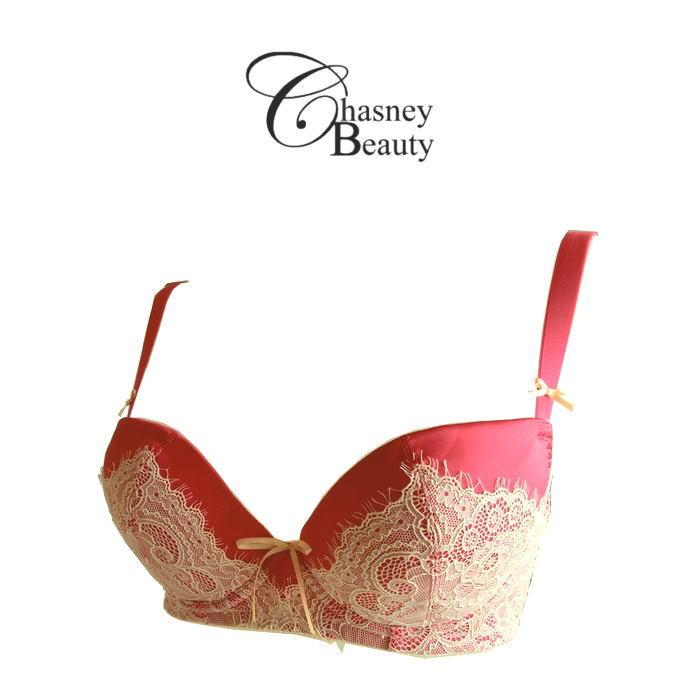 【送料無料】新作【Chasney Beauty】チェスニー・ビューティ 「Vivienne」フランボワーズ 3/4カップブラジャー ウェイクアップブラ