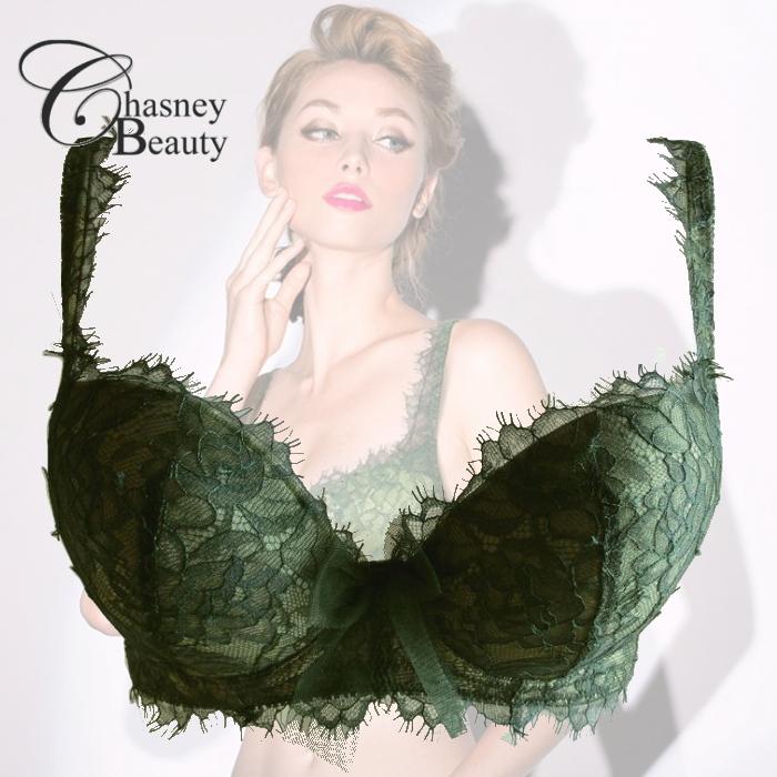 【送料無料】【Chasney Beauty】チェスニー・ビューティ 新作「Muse」 ダークグリーン ブラジャー