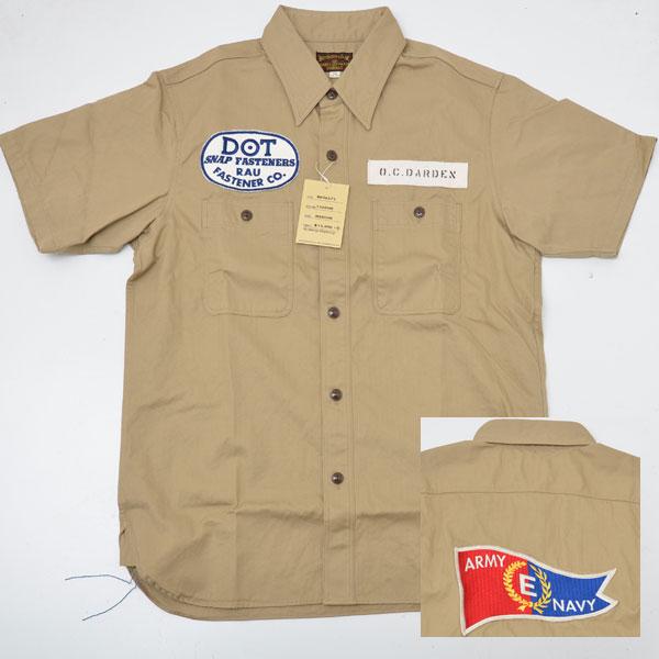 Buzz Ricksons バズリクソンズ BR36573-135 半袖コンストラクターシャツ カーキ