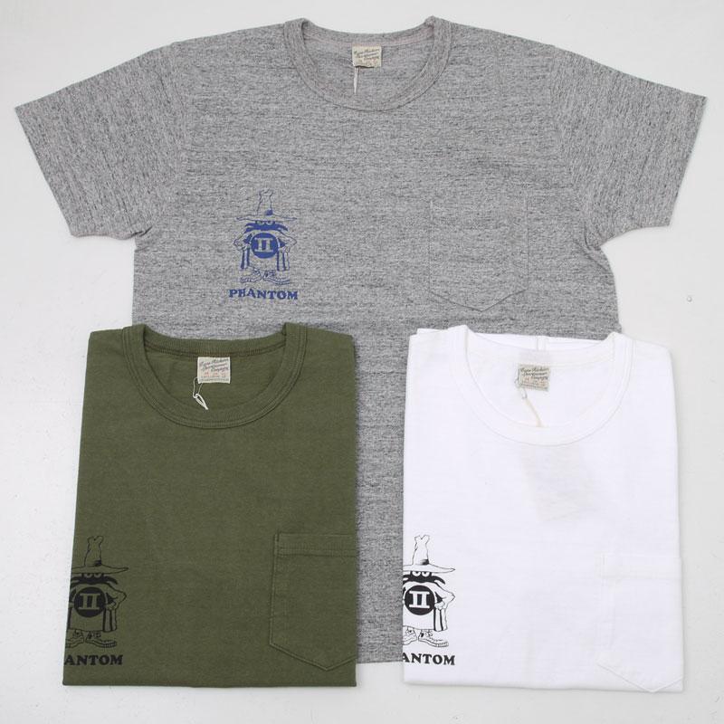 Buzz Ricksons バズリクソンズ BR77274 PHANTOM ポケット付プリント半袖Tシャツ ポケT