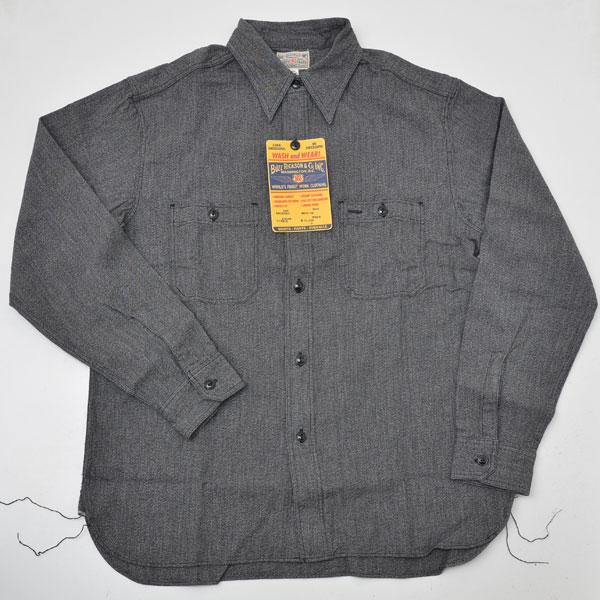 【送料無料】Buzz Ricksons バズリクソンズ BR26082 モックツイスト シャンブレ長袖ワークシャツ
