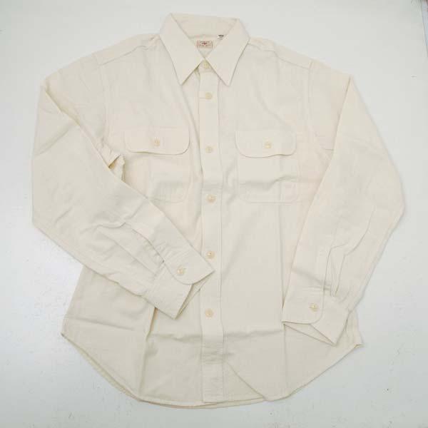 SUGAR CANE シュガーケーンSC27851-401 シャンブレ長袖ワークシャツ オフホワイト