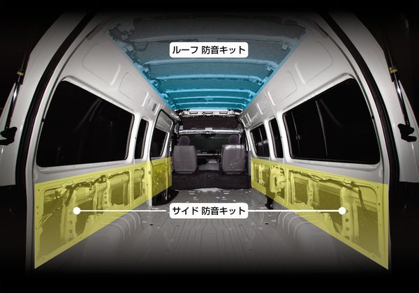 サイド防音キット ロング【イースサウンド】 200系ハイエース(HIACE)専用 サイド防音キット E-H2S20 (ロングボディー・4Dr、5Dr共通) レアルシルト×ニードルフェルト02P05Nov16