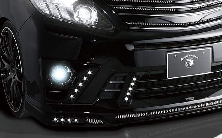 【ROWEN/ローエン】フォグカバー(With LEDスポット) FRP製(塗装済)ALPHARD S後期 ANH/GGH2# アルファードローウェン02P05Nov16