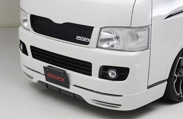 【ESSEX/エセックス】 フロントリップスポイラーVer.II (未塗装) ハイエース 1/2型 200系 標準ボディ専用 ※メーカー直送品の為、代金引換利用不可02P05Nov16