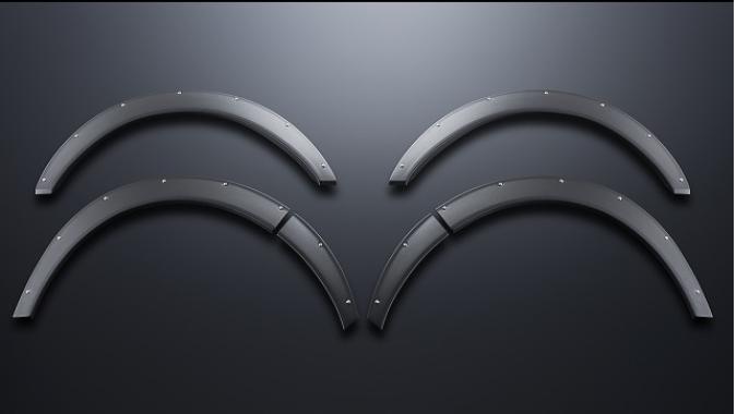 【ESSEX/エセックス】 オーバーフェンダー ABS製 シボ+ピアスボルトハイエース/レジアスエース ※メーカー直送品の為、代金引換利用不可02P05Nov16