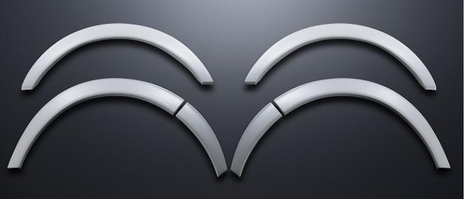 【ESSEX/エセックス】 オーバーフェンダー ABS製ホワイトパール ブラックマイカ ハイエース/レジアスエース ※メーカー直送品の為、代金引換利用不可
