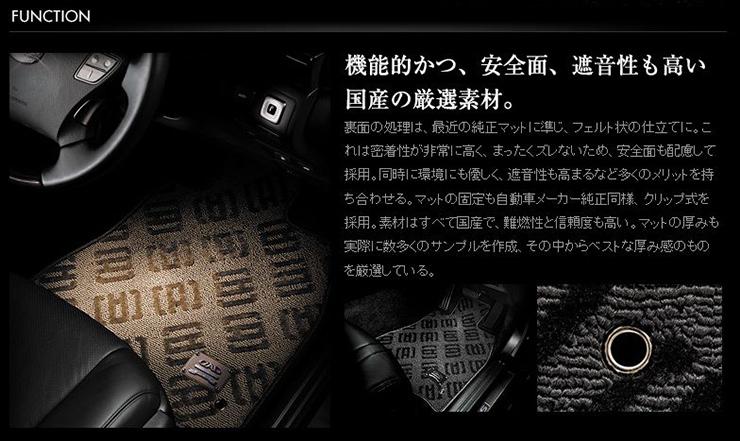 D.A.Dラグジュアリーデザインマット【ベガ】【モノグラム】トヨタランドクルーザーUZJ200W/URJ202W(24/1~)8人乗用【GARSON/ギャルソン】