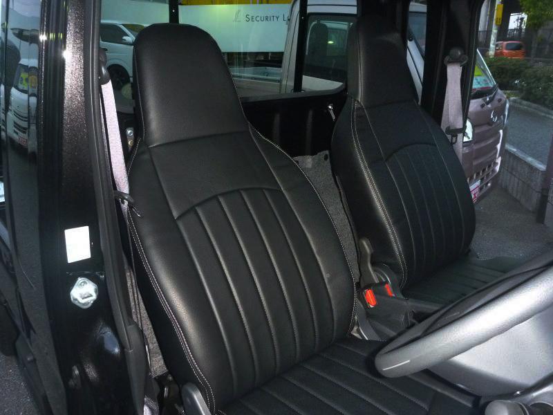ハイゼットジャンボ S500型 シートカバーブラック/ブラウン 【送料無料対象外】