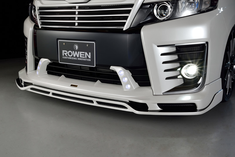 【ROWEN/ローエン】フロントスポイラー・サイドステップ・リヤハーフスポイラー 3点セット 塗装済80VOXY ヴォクシーZS-Grade PREMIUM Editionローウェン02P05Nov16