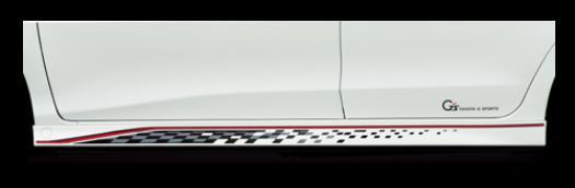 【1万円以上送料無料対象外】ヴィッツ NCP131 G'sモデル Vitzを簡単にG's仕様に! トヨタ純正 【メタルストライプ×G'sロゴ】 左右セット1台分 02P05Nov16