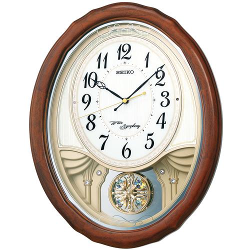 アミューズ時計 ウエーブシンフォニー AM257B セイコー掛け時計 SEIKO電波時計 【楽ギフ_のし】【楽ギフ_メッセ入力】【楽ギフ_名入れ】