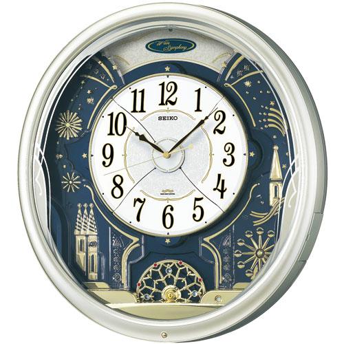 セイコークロック SEIKO からくり時計 壁掛け 名入れ ウエーブシンフォニー RE561H セイコー掛け時計 SEIKO 掛け時計 からくり電波時計 【楽ギフ_のし】【楽ギフ_メッセ入力】【楽ギフ_名入れ】