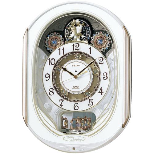 セイコークロック SEIKO 【からくり時計 壁掛け時計】名入れ ウエーブシンフォニー RE565H セイコー SEIKO電波時計 【楽ギフ_のし】【楽ギフ_メッセ入力】【楽ギフ_名入れ】
