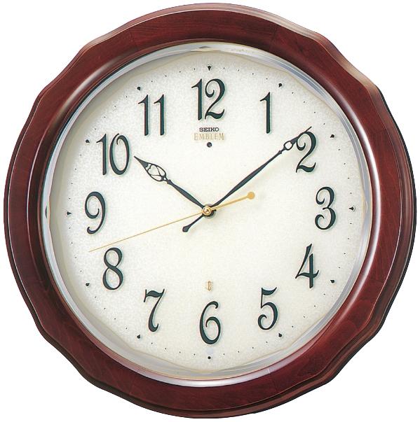 SEIKO掛け時計 セイコー掛け時計エンブレム SEIKO電波時計 HS521B グリーン購入法適合商品  【楽ギフ_のし】【楽ギフ_メッセ入力】【楽ギフ_名入れ】