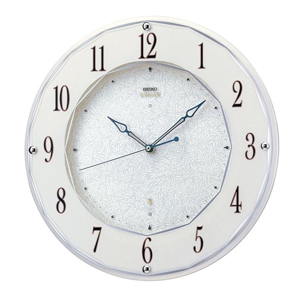 セイコー掛け時計エンブレム SEIKO電波時計 HS524W セイコー掛け時計 【楽ギフ_のし】【楽ギフ_メッセ入力】【楽ギフ_名入れ】