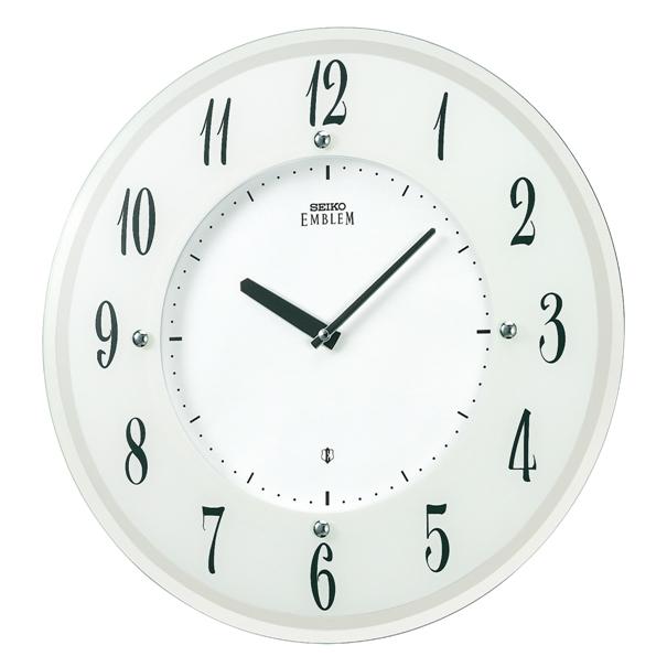 セイコー掛け時計エンブレム SEIKO電波時計 HS533W SEIKO掛け時計  【楽ギフ_のし】【楽ギフ_メッセ入力】【楽ギフ_名入れ】
