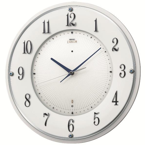 SEIKO掛け時計  セイコー掛け時計エンブレム SEIKO電波時計 HS543W グリーン購入法適合商品  【楽ギフ_のし】【楽ギフ_メッセ入力】【楽ギフ_名入れ】