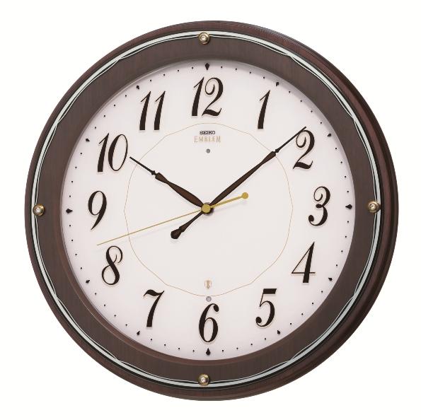 SEIKO掛け時計 セイコーエンブレム掛け時計 SEIKO電波時計 HS545B グリーン購入法適合商品 セイコー掛け時計  【楽ギフ_のし】【楽ギフ_メッセ入力】【楽ギフ_名入れ】