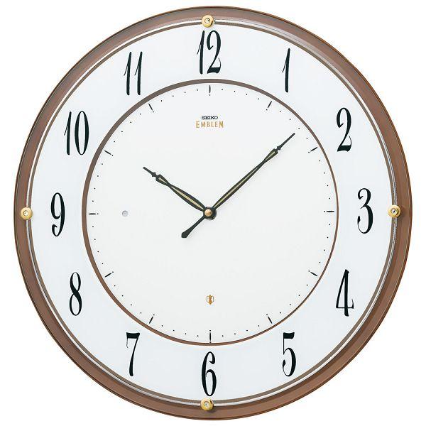 セイコーエンブレム 掛け時計 SEIKO電波時計 HS548B セイコー壁掛け掛け時計