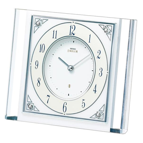 セイコー置時計エンブレム SEIKO置き時計 HW565W  【楽ギフ_のし】【楽ギフ_メッセ入力】【楽ギフ_名入れ】