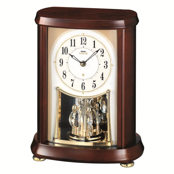 セイコー置時計エンブレム  SEIKO電波置き時計 HW566B  【楽ギフ_のし】【楽ギフ_メッセ入力】【楽ギフ_名入れ】