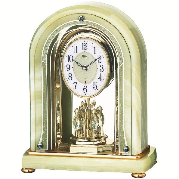 セイコー置時計エンブレム  SEIKO電波置き時計 HW575M  【楽ギフ_のし】【楽ギフ_メッセ入力】【楽ギフ_名入れ】