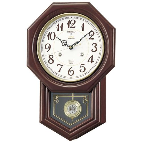 報時振り子時計  セイコーSEIKO電波振り子時計 RQ205B セイコー掛け時計  【楽ギフ_のし】【楽ギフ_メッセ入力】【楽ギフ_名入れ】