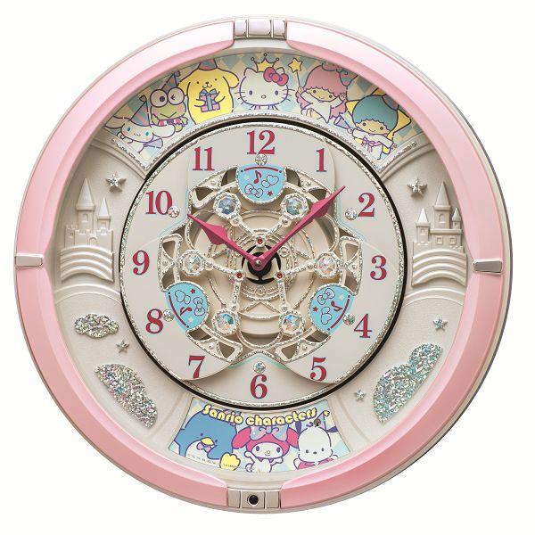 30%off からくり時計 壁掛け時計 名入れ サンリオの人気キャラクター CQ222P セイコーからくり掛け時計 SEIKO時計 送料無料