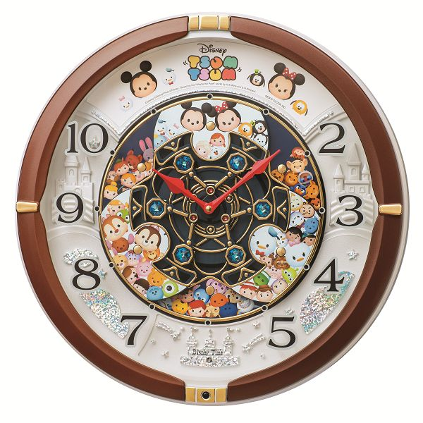 からくり時計 贈り物 ディズニーツムツム ミッキーマウス 正規逆輸入品 SEIKO壁掛け時計 セイコー掛け時計 掛け時計 ギフト プレゼント 記念品 ツムツム FW588B ディズニー SEIKO時計 壁掛け時計 送料無料 セイコーからくり掛け時計 名入れ