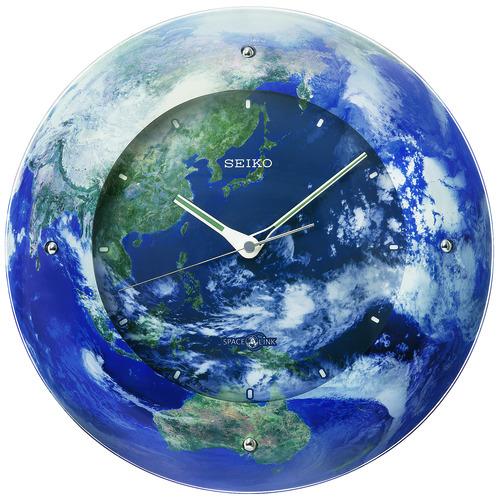 宇宙からみた美しい地球をデザイン 衛星電波掛け時計クロック SEIKO GP218L セイコークロック製造125周年記念品【楽ギフ_のし】【楽ギフ_メッセ入力】【楽ギフ_名入れ】