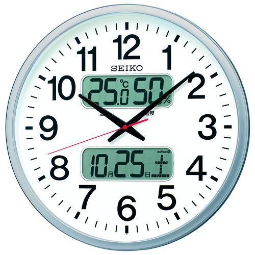 SEIKO掛け時計 セイコー掛け時計 大型時計 オフィス時計 SEIKO電波時計 KX237S デジタル表示 SEIKO掛け時計 グリーン購入法適合商品【楽ギフ_のし】【楽ギフ_メッセ入力】【楽ギフ_名入れ】