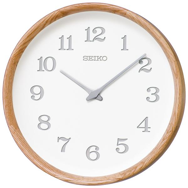 木の温もりを感じるセイコー掛け時計 SEIKO時計 nu・ku・mo・ri KX239A オーク 天然木【楽ギフ_のし】【楽ギフ_メッセ入力】【楽ギフ_名入れ】