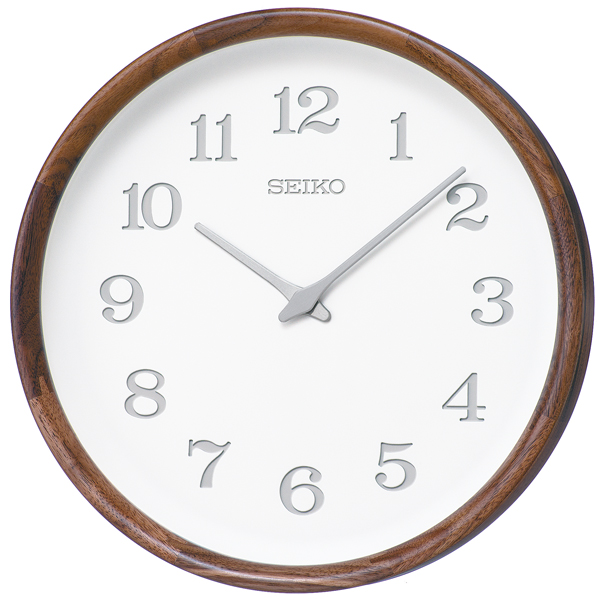 木の温もりを感じるセイコー掛け時計 SEIKO時計 nu・ku・mo・ri KX239B ウォルナット 天然木【楽ギフ_のし】【楽ギフ_メッセ入力】【楽ギフ_名入れ】