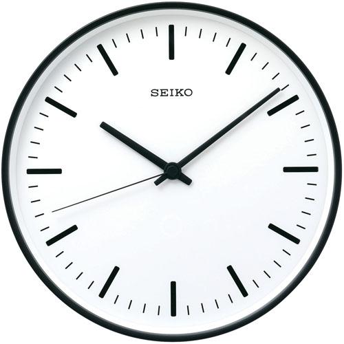 【送料無料】 セイコー掛け時計 スタンダードアナログ ブラック KX308K φ310  SEIKO電波時計  【楽ギフ_のし】【楽ギフ_メッセ入力】【楽ギフ_名入れ】