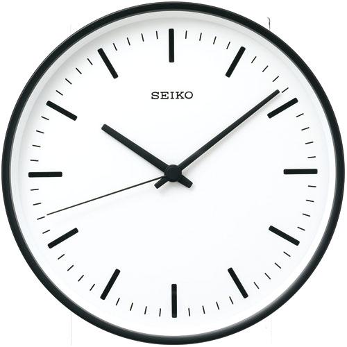 【送料無料】 セイコー掛け時計 スタンダードアナログ ブラック KX309K φ265  SEIKO電波時計  【楽ギフ_のし】【楽ギフ_メッセ入力】【楽ギフ_名入れ】